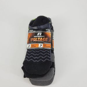 Russell Performance Black Crew Socks Arch Support